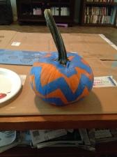 Little pumpkin in chevron print